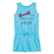 Okie Dokie® Short-Sleeve Graphic Sundress - Preschool Girls 4-6x