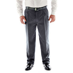 Stafford Travel Stretch Pleated Pants Big and Tall
