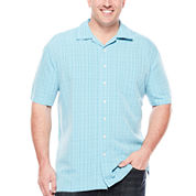 The Foundry Supply Co.™ Short-Sleeve Textured Plaid Shirt - Big & Tall