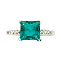 Sparkle Allure Green Crystal Cocktail Ring