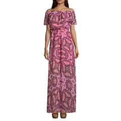 Decree Off The Shoulder Maxi Dress - Juniors