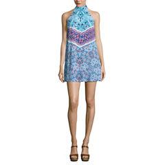 Decree Halter Dress with Neck Detail - Juniors