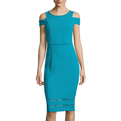 Nicole By Nicole Miller Short Sleeve Bodycon Dress