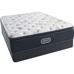 Simmons Beautyrest Silver® Snowhaven Pillowtop Plush - Mattress + Box Spring