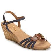 A2 by Aerosoles Crumb Cake Womens Wedge Sandals