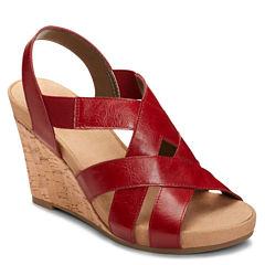 A2 by Aerosoles Swim Plush Womens Wedge Sandals