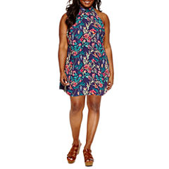Decree Halter Dress with Neck Detail - Juniors Plus