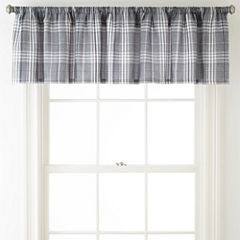 Home Expressions Shawn Rod-Pocket Tailored Valance