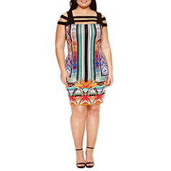 Bisou Bisou Sleeveless Sheath Dress-Plus