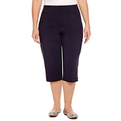 Alfred Dunner Seas The Day Cropped Pants-Plus (19