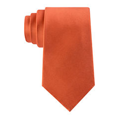 Stafford® Solid Silk Tie - Extra Long