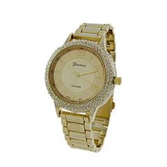 Geneva Platinum Womens Gold Tone Bracelet Watch-4979