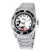 Disney Honor Mens Mickey Mouse Stainless Steel Watch