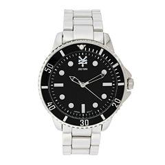 Zoo York® Mens Silvertone And Black Bracelet Watch