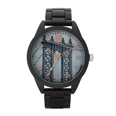 Zoo York® Mens Graphic Rose-Tone Black Bracelet Watch