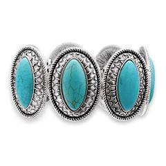 Mixit™ Aqua Stone Stretch Bracelet