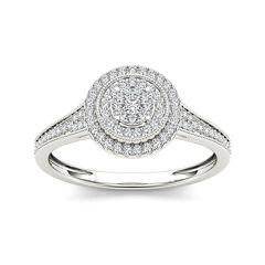 1/3 CT. T.W. Diamond 10K White Gold Engagement Ring