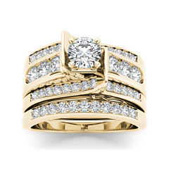 1 1/4 CT. T.W. Diamond 14K Yellow Gold Bridal Ring Set