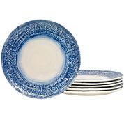 Tabletops Gallery® Castleware Set of 6 Melamine Dinner Plates