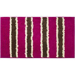 Bathtopia Ace Microfiber Stripe Bath Rug Collection