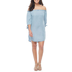 a.n.a Off the Shoulder 3/4 Sleeve Shift Dress