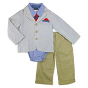Nanette Baby Boys 4-pc. Suit Set-Baby