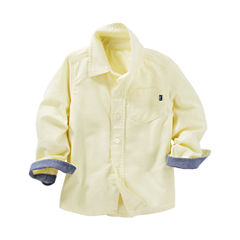 Oshkosh Long Sleeve Button-Front Shirt Boys