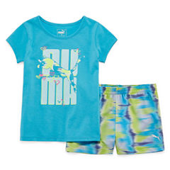 Puma 2-pc. Short Set Toddler Girls