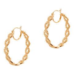 CZ by Kenneth Jay Lane Rose Gold-Tone Infinity Hoop Earrings