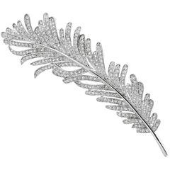 CZ by Kenneth Jay Lane Cubic Zirconia Vintage Feather