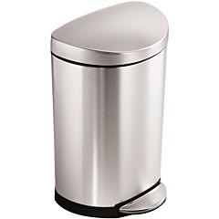 simplehuman® 10L Semi-Round Step Trash Can