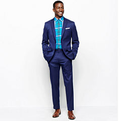 JF J. Ferrar® Blue Stretch Gabardine Suit Separates or Plaid Shirt