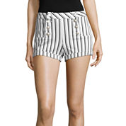 Almost Famous Striped High-Rise Sailor Shorts-Juniors