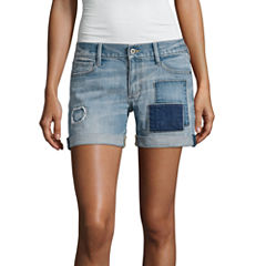 Arizona Patch Midi Shorts-Juniors
