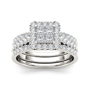 1 1/4 CT. T.W. Diamond 14K White Gold Bridal Set
