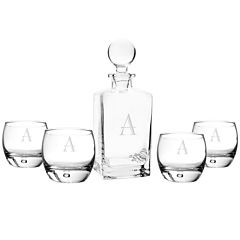 Cathy's Concepts Personalized 5-pc. Square Whiskey Decanter & Glasses Set