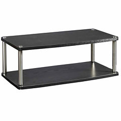 Turner Two-Tier Swivel TV Stand