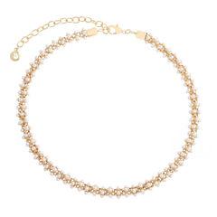 Gloria Vanderbilt Womens White Collar Necklace