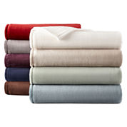 JCPenney Home™ Velvet Plush Solid Blanket