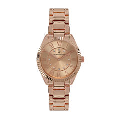 Worthington® Crystal Accent Womens Rose-Tone Bracelet Watch