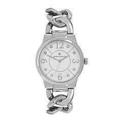 Worthington® Womens Silver-Tone Link Bracelet Watch