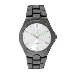 Beverly Hills Polo Club Mens Gunmetal Bracelet Watches