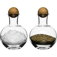 Sagaform® Set of 2 Spice & Herb Storage Bottles with Oak Stoppers