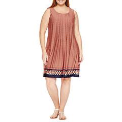 Perceptions Sleeveless Knit Sundress-Plus