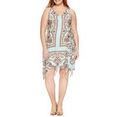 Unity Sleeveless Woven Sheath Dress-Plus