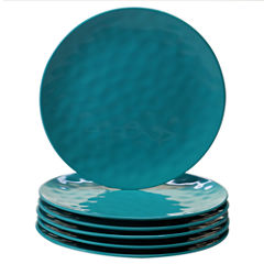 Certified International Teal 6-pc. Dinner Plate