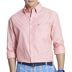 IZOD Long-Sleeve End-On-End Woven Shirt