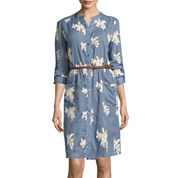 Trulli Long-Sleeve Belted Print Shirtdress