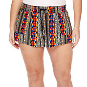 Arizona Drawstring Shorts - Juniors Plus