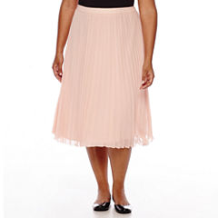 Boutique+ Pleated Skirt - Plus